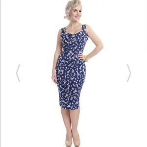 Blue nautical wiggle dress from Collectif